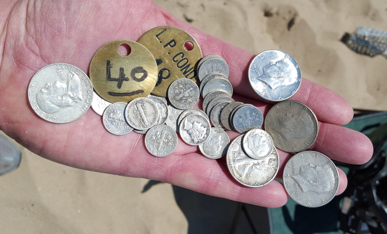 Midwest Historical Research Society Fun Metal Detector To Findcoins At The Beach Spring Hunt Finds